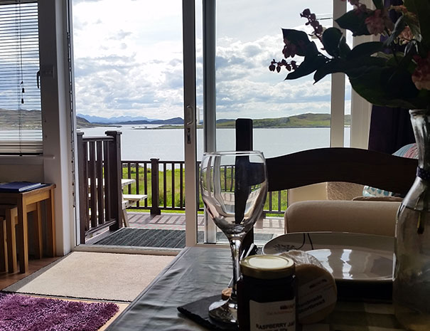 Even our dining room table has a view of the sea