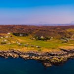 Aerial view of Port Beag Self-Catering Chalets, Altandhu near Achiltibuie