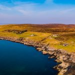 Aerial View over Port Beag Chalets