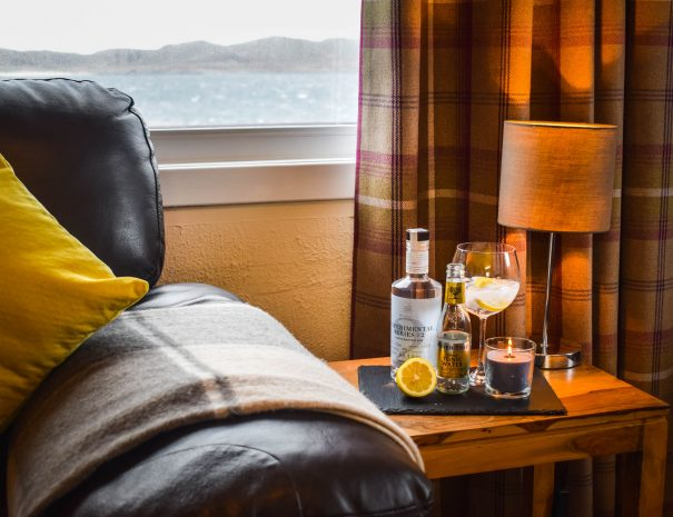 The local gin makes the perfect sundowner, available from Achiltibuie Stores
