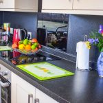 The kitchen in our 3 bedroom chalets at Port Beag Chalets
