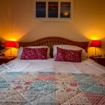 Sea view double room in our Rowan Chalet at Port Beag Chalets
