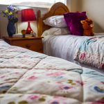 Twin room in our Rowan Chalet at Port Beag Holiday Chalets, Altandhu