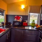 The kitchen in our Rowan Chalet, Port Beag Holidays
