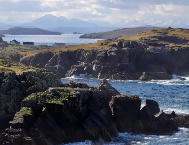 The dramatic coast line along the Coigach Peninsula